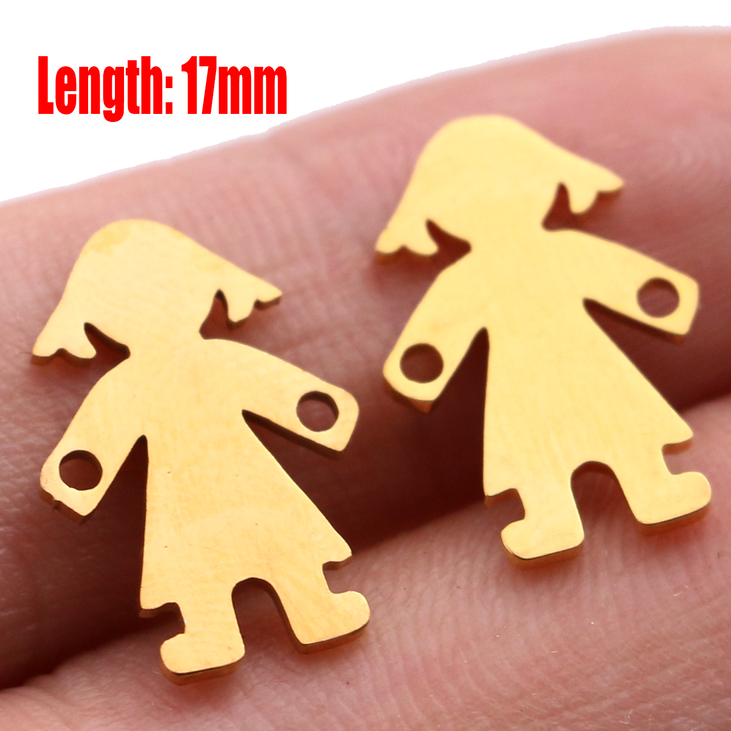 5pcs Family Chain Stainless Steel Pendant Necklace Parents and Children Necklaces Gold/steel Jewelry Gift for Mom Dad New Twice - Цвет: Gold15
