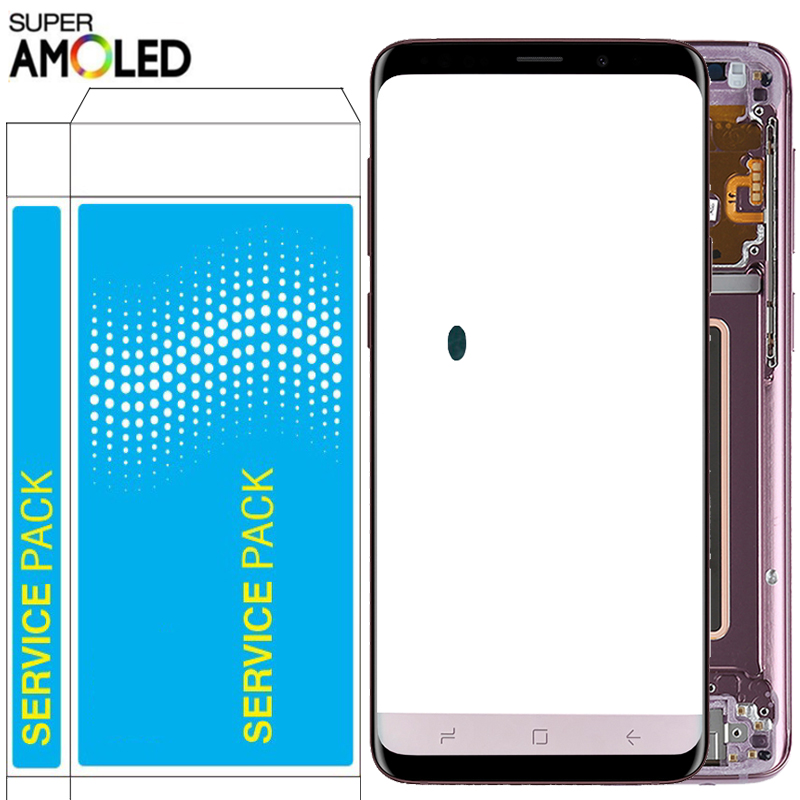 Original S9 Plus LCD For Samsung Galaxy S9 LCD With Frame Super Amoled 2960*1440 Display SM-G960F G965F G960F/DS Touch Screen