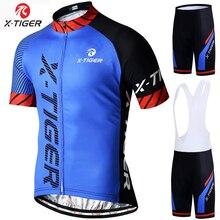 X Tiger Cycling Jerseys Set Thermal Fleece Long Sleeve Coat Jacket Cycling Clothing 5D Gel Padded Bib Pants Winter Cycling Suit