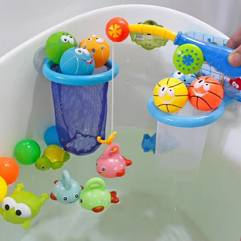 Hot Fishing Floating Squirts Toy Baby Bath Toy Gifts Interest Soothing Emotions Sensory Training  Environmentally Friendly