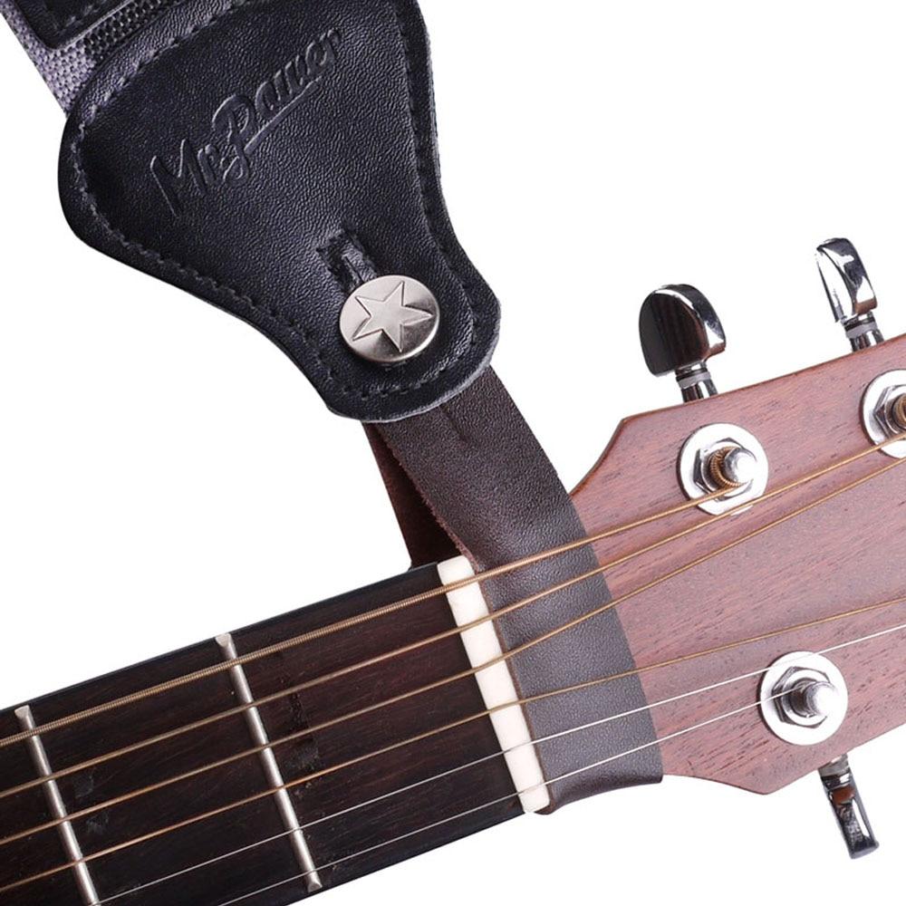Gris ukul/él/é ENticerowts Sangle pour Guitare orchestrale et r/églable en Similicuir avec extr/émit/és en Cuir synth/étique pour Guitare Folklorique Basse