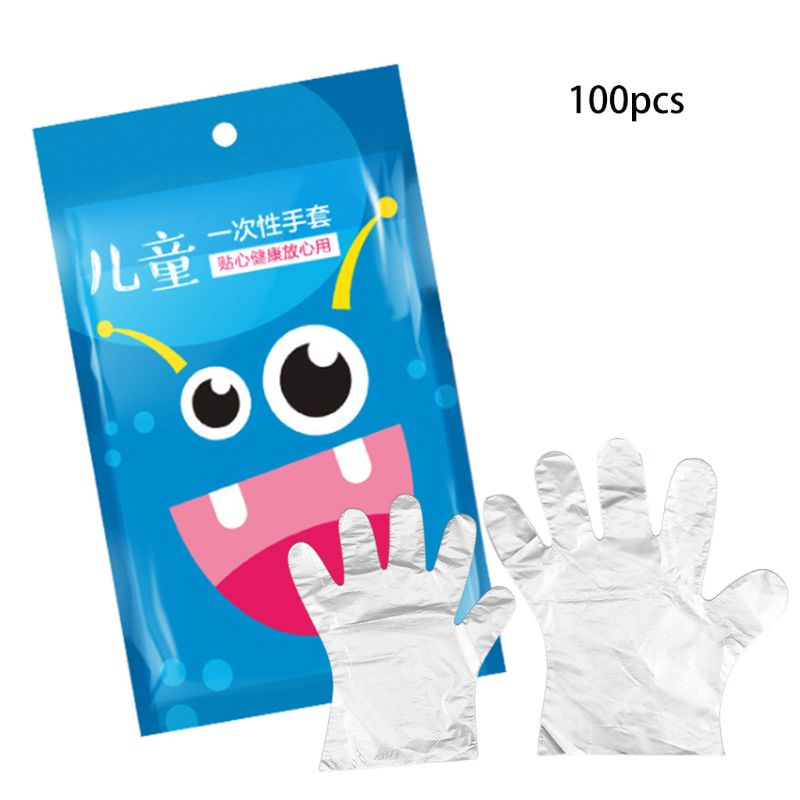 100pcs Vinyl Disposable Gloves Powder Free Latex Free For Kids Kitchen Gloves