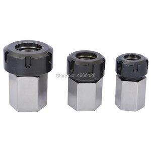 Image 4 - 1 pçs primavera mandril collet titular hex er32 er25 collet bloco 45x65mm para torno máquina de gravura
