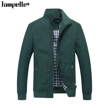 Casual Business Men's Stand-up Collar Jacket Spring Autumn Men Warm Slim Fit Outerwear Long Sleeved