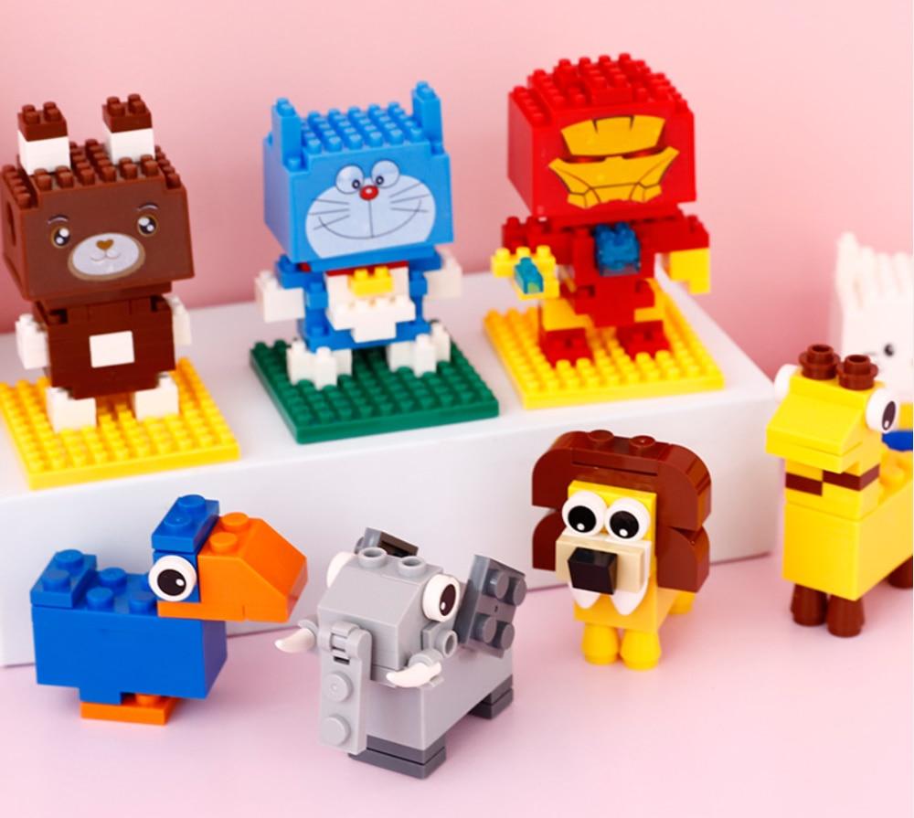diy building blocks lion giraffe pencil cats robot bear sharpener cartoon school stationary for students school supplies items