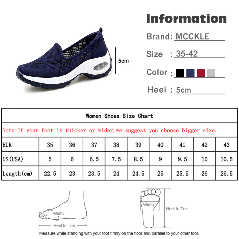 MCCKLE Women Autumn Mesh Sneakers Ladies Slip On Knitting Walking Shoes Female Casual Comfortable Woman Loafers Flat Shoes 2020 6