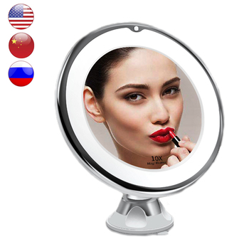 LED Mirrors Makeup Mirror Light Magnifying Miroir Make up Mirror with Led Light Grossissant 10x Vanity Mirrors Bathroom Shower