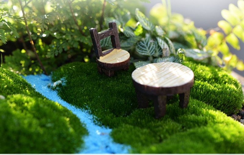 Mini Chair Home Decor Miniatures Fairy Garden Ornaments