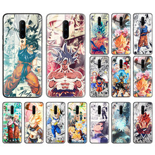 Dragon Ball Z Hot Case for Oneplus 7T 7 Pro 5G 7Pro 7TPro Tempered Glass + Black Silicone Edge Anime Goku Sac Phone Coque Tampa