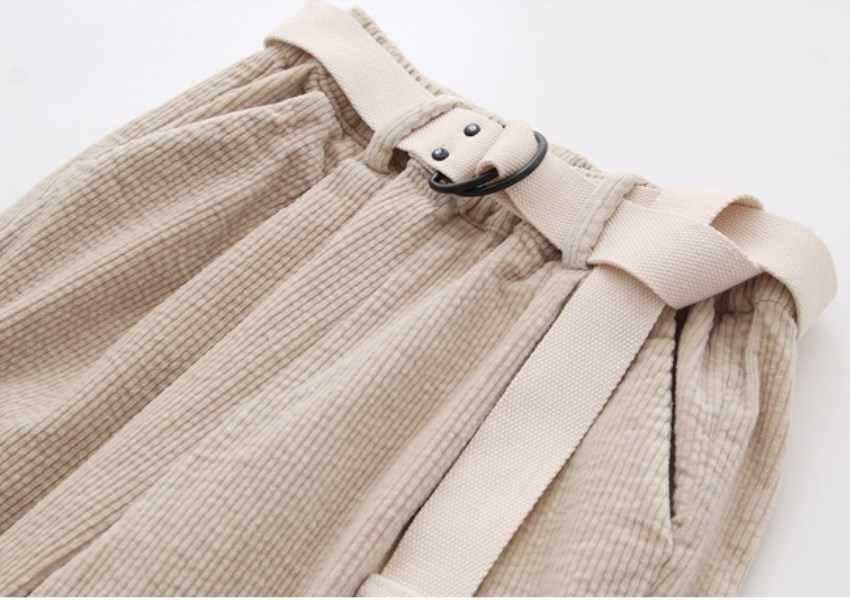 Вельветовые штаны-шаровары, осенне-зимние женские штаны с эластичным поясом, повседневные черные брюки, pantalones mujer cintura alta