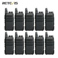 Retevis RT622 RT22 PMR446 מכשיר קשר 10 pcs סיטונאי מחיר נייד דו דרך רדיו VOX 1 2 קילומטר מלון מסעדה