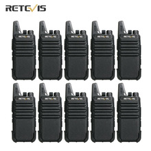 Retevis RT622 RT22 PMR446 Walkie Talkie 10 pcs Wholesale Price Portable Two Way Radio VOX Hands free 1 2Km Hotel Restaurant