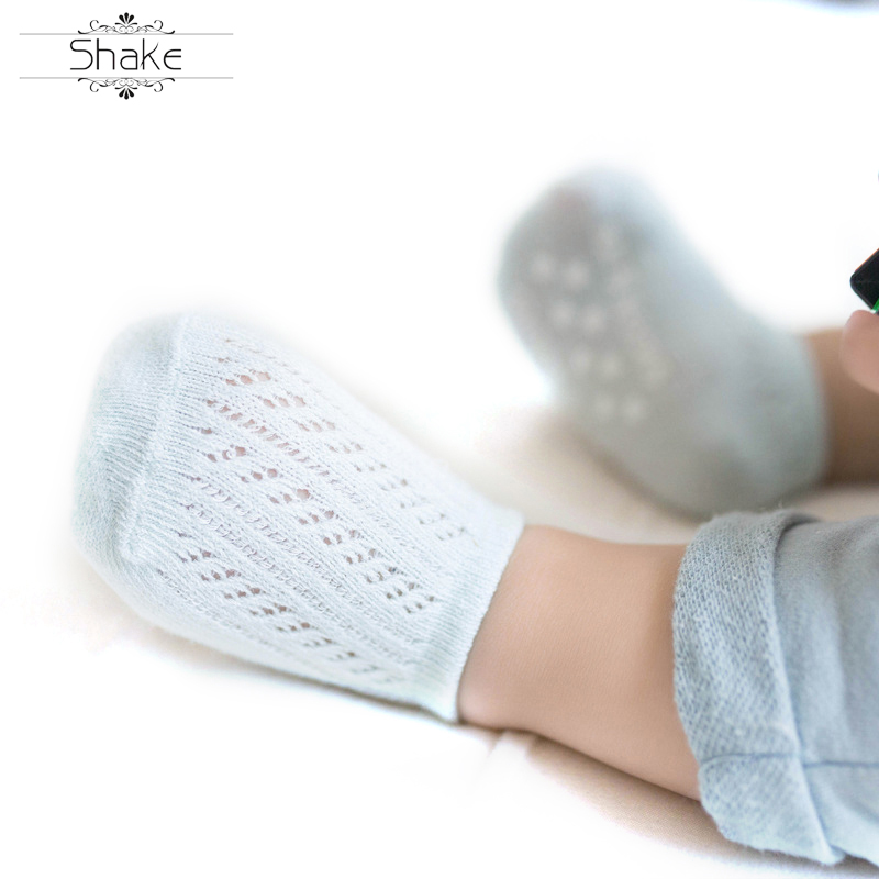 Non Slip Thin Brief Cute Moving Circle Custom Baby Socks Shallow Mouth Antiskid Baby Ship Socks Gifts