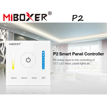 цена на Miboxer P2 Smart Panel Controller DC12V-24V 15A Glass Touch Screen Remote Control For CCT Dimming LED Strips ,Panel Lights