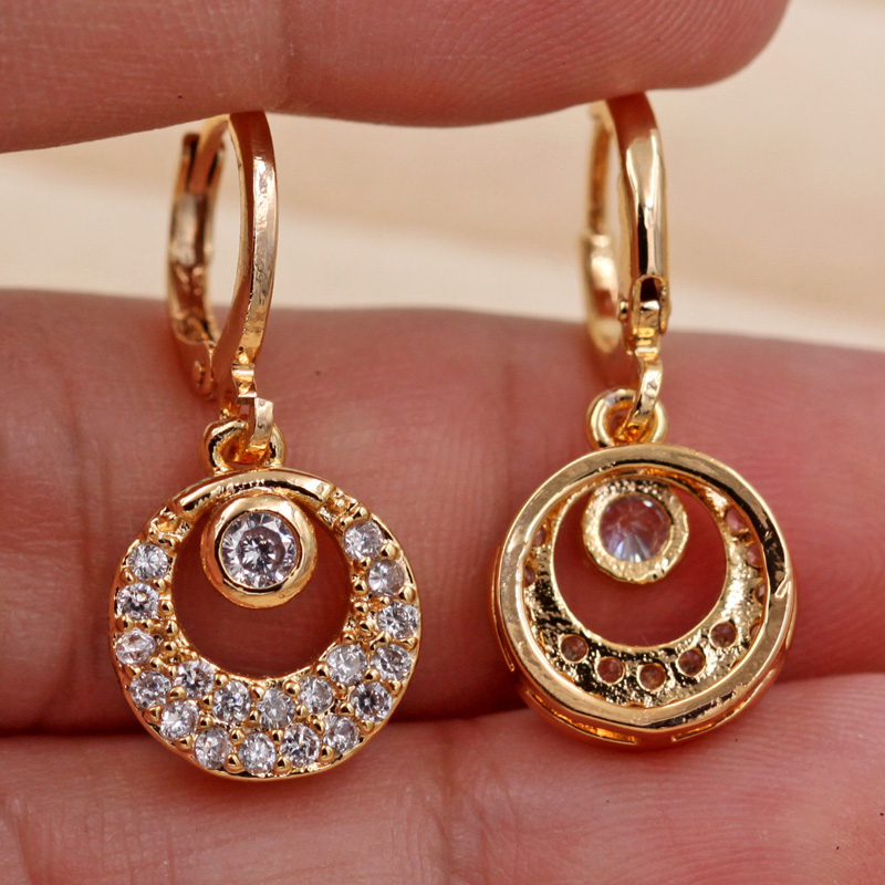 H2b2edc7439fb4010a2bb8cee0057d13dl - Trendy Vintage Drop Earrings For Women Gold Filled  Red Green Pink Lavender Zircon Earrings Gold  Earring Wedding  Jewelry