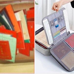 Image 4 - 문서 티켓 가방 대용량 인증서 파일 주최자 홈 여행 중요 항목 GK99