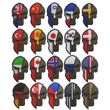 Bandeira bordado bada capacete remendo remendo bandeira eua espanha rússia israel canadá reino unido turquia moral tático militar emblema