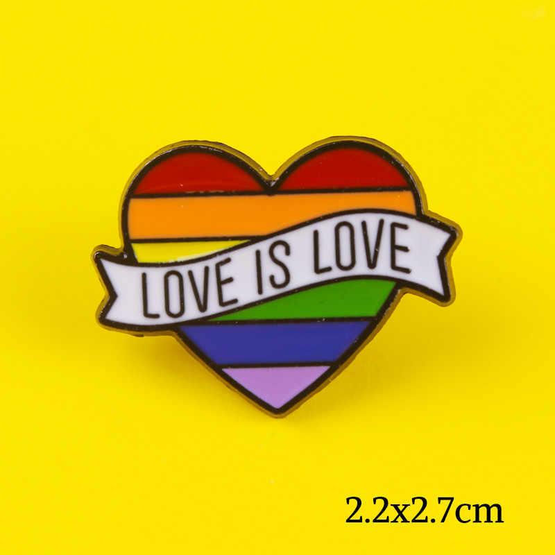 קשת סיכת תג על בד אהבת לב דגלי דש פין הומו גאווה גברים ונשים של ג 'ינס אביזרי תכשיטי קשת אמייל מתנה