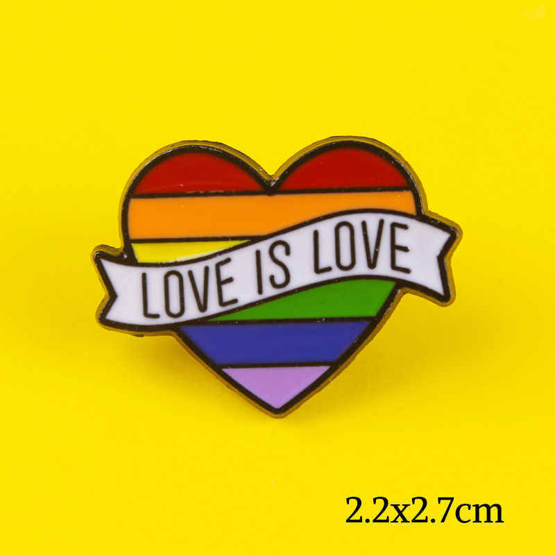 Lgbt Pride Broche Badge Regenboog Vlaggen Intersex Pins Leuke Hart Gay Broches Badge Op Doek Denim Vrouwen Jassen Lgbt Accessoires
