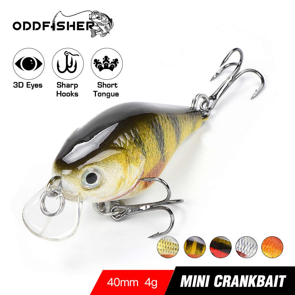 Crankbait Fishing Lure Mini Swimbait WobblersสำหรับPike Crank Bass Minnowปลาเหยื่อSea Jerkbait Troll Topwater 4 ซม.4G