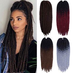 Braid Hair Jumbo Mambo Senegalese Havana Twist Synthetic Ombre 20-Color Black 120g 22''