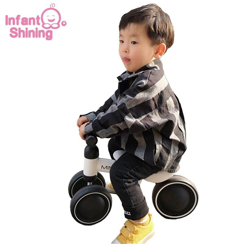 Bébé brillant bébé Balance vélo marcheur enfants monter sur jouet cadeau pour 10-24 mois enfants pour l'apprentissage marche Scooter - 2