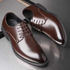 Dress Shoes Office-Wear Formal Classic Business Elegant Men's Fashion Lace-Up New