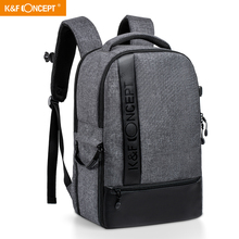 K & F konsept moda çok fonksiyonlu çanta su geçirmez kamera fotoğraf sırt çantası büyük boy Laptop çantaları Canon Nikon Sony için Fujifilm SLR fotoğraf makinesi