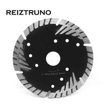 REIZTRUNO 125mm Diamond Turbo Blade 5-Inch Slant Protection Teeth For Stone Concrete Premium Granite Cutting tool Dry or wet use