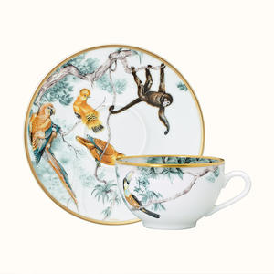 Cup-Set Porcelain High-Tea-Cup Coffee White China Luxury European Saucer Xicara-De-Cafe-Cup
