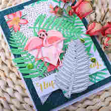 Kokorosa Love Flamingo Metal Cutting Dies 2020 Animal Dies Scrapbooking Craft for Card Making Embossing Stencil Heart Die Cut kokorosa rose flower metal cutting dies for dies scrapbooking card making embossing die cut new craft dies album embossing