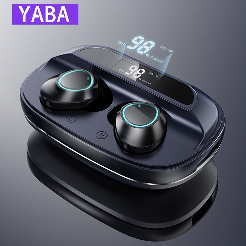 Tüketici Elektroniği'ten Bluetooth Kulaklık & Kulaklıklar'de YABA G16 TWS bluetooth kulaklık ağır bas 6D Stereo HiFi ses LED ekran kulaklık 3000mAh şarj kutusu IPX7 title=