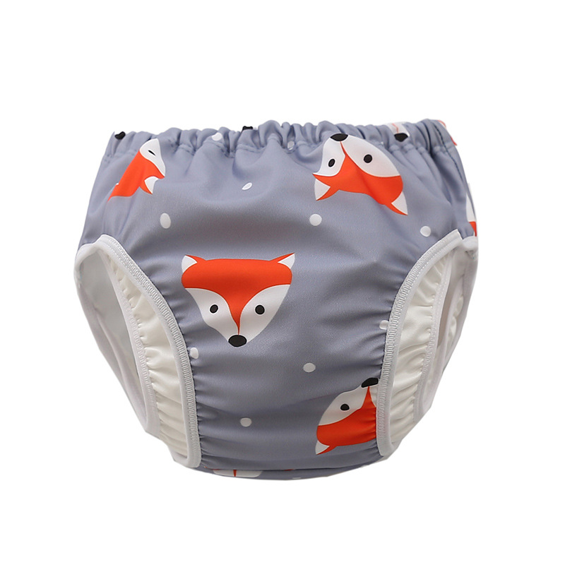 Infant Children Leak proof Swimming Nappies Newborn Baby High Waist Swimming Trunks Baby Boys Girls Cartoon Printed Swim Diapers 4
