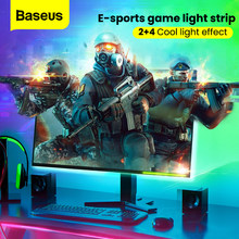 Baseus Usb Led Strip Rgb 5050 Flexibele Led Light Verwisselbare Computer/Tv/Slaapkamer Achtergrond Verlichting DC5V Rgb Kleur woonkamer(China)
