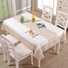 European tea table tablecloth rectangular fabric lace embroidered modern minimalist household round linen