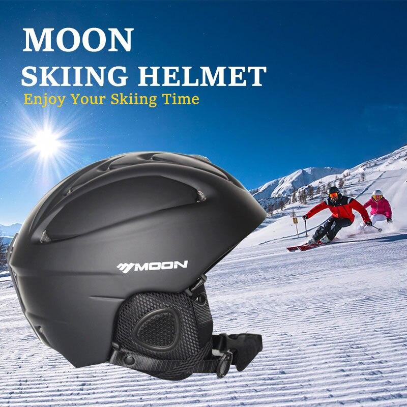 MOON лыжный шлем для сноуборда, высокое качество, профессиональный скейтборд, экипировка для мужчин, t, зимний взрослый шлем для мужчин и женщи...
