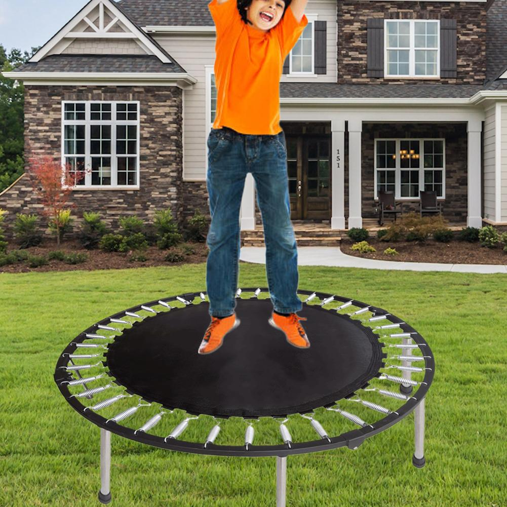 32-60 Inch Trampoline Round Jumping Pad Elastic Trampoline Bounce Mat Replacement Mat For Trampoline Outdoor Exercise Home Toys