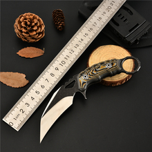 Karambit CS GO Tactical combat knife D2 steel sharp outdoor self-defense claw knife survival pocket Knives camping hunting EDC cosplay cs go counter strike survival tactical claw combat fight tactical training rubber plastic soft knife axe