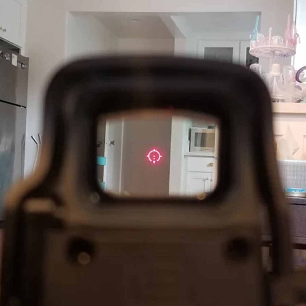 Taktis 558 Collimator Holographic Sight Merah Hijau Dot Optik Lingkup Reflex Sight dengan 20mm QD Rail Mount