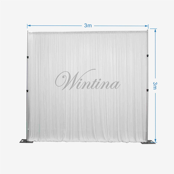 Wintina 3x3M Ice Silk Party Backdrop Hanging Curtains Gauze Wedding Decoration Photo Backdrops Background Event Party Supplies