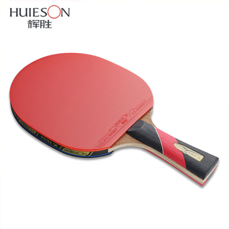HUIESON Table Tennis Racket 6 Star Carbon Fiber Ping Pong Racket Blade Powerful Pips-in Rubber Tabletennis Tenis Pingpong Bat