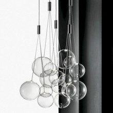 IKVVT Modern Simple Glass Pendant Lights Nordic Loft Led Hanging Lamp Restaurant Livingroom Bedroom Bar Decoration Lighting Lamp недорого