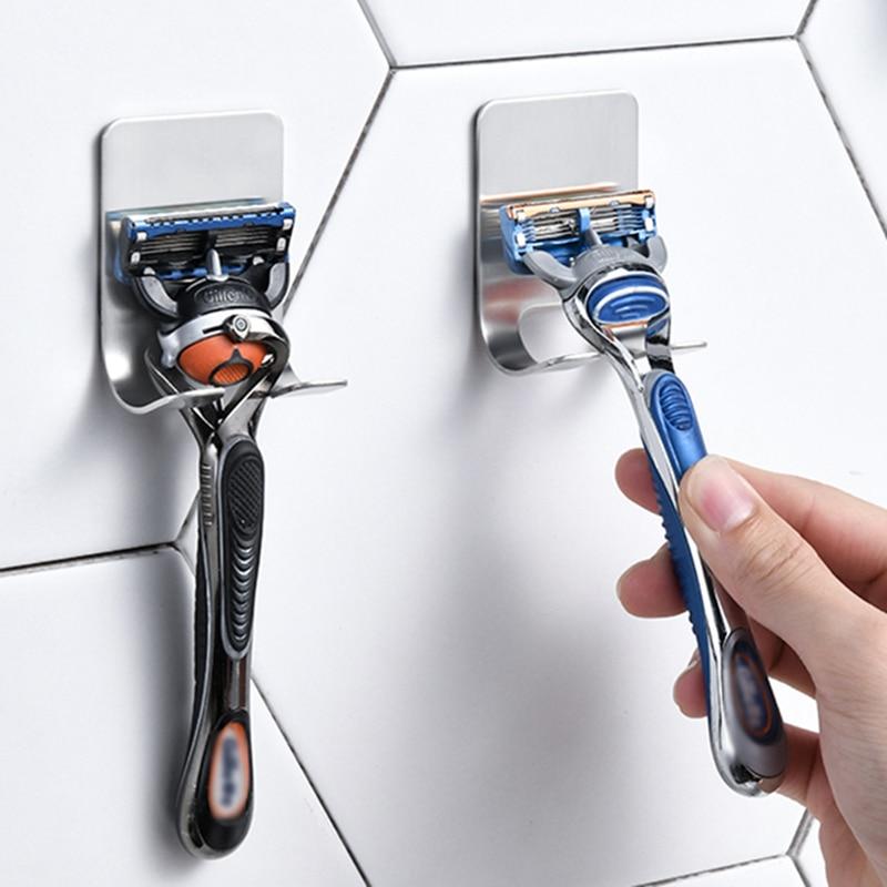 Stainless Steel Razor Rack Men Shaver Holder Razor Holder Shaving Rack Bathroom Accessorie Razor Storage Rack Viscose Razor Hook