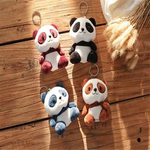4colors, panda 12cm approx. plush stuffed doll toy(China)