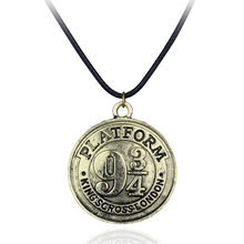 Hot salling Fashion Jewelry Platform Nine and Three Quarters Movies Prop King Scross London Symbol Necklace Coin Badge Pendants(China)