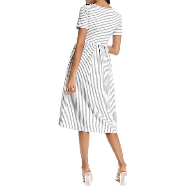 LONSANT Simple Maternity Dresses 4
