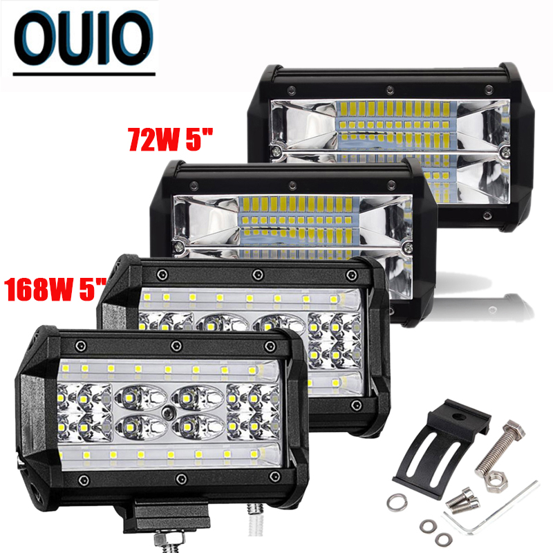 5inch 72W 168W LED Light Bar Off Road Car Headlight Work Combo Beam for Driving Offroad Boat Tractor Truck 4x4 SUV 12V 24V