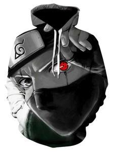 Pullover Sweatshirt Hoodies Naruto Kakashi Long-Sleeve Japanese Streetwear Hip-Hop 3d-Printing