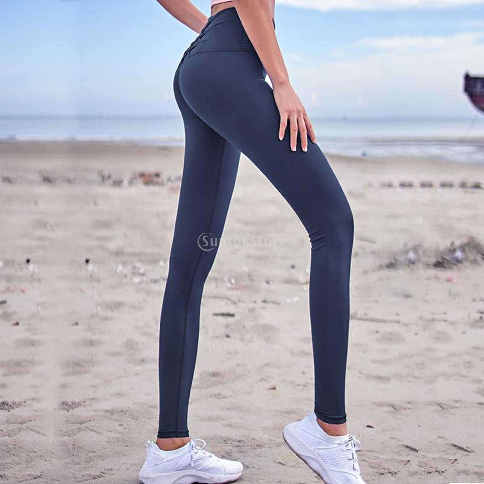Women's Elastic Yoga Pants High Waist Leggings Slimming Seamless Tummy Control for Running  Jogging Fitness Exercise Workout