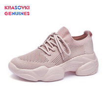 Krasovki Genuines Ins Sneakers Women Fashion Autumn Dropshipping Increased Breathable Thick Bottom Mesh Leisure
